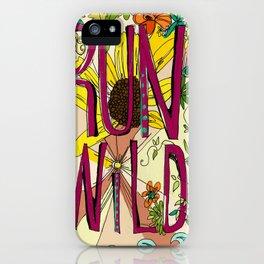 Run Wild iPhone Case