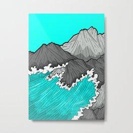 The Rocks And The Sea Metal Print