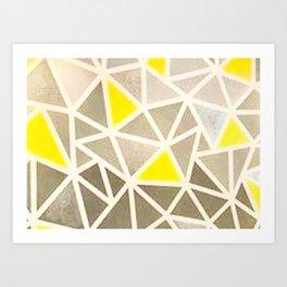 Geometric painted design Art Print