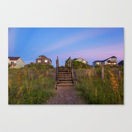 Beach Houses at Sunrise Canvas Print