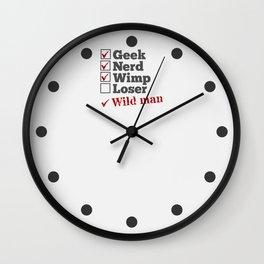Nerd Geek Wild Man Wall Clock