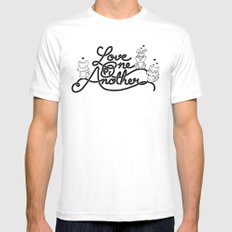 Love One Another White SMALL Mens Fitted Tee