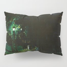 Central Park, Summer Night, Riverside Drive landscape by George Wesley Bellows Pillow Sham