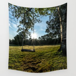 Country Comfort / Tree Swing Wall Tapestry