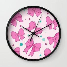 Bow Mania Wall Clock