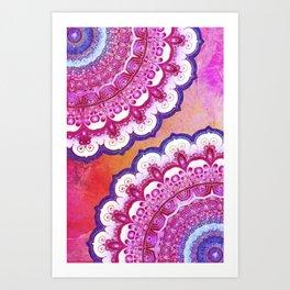 Colorful Watercolor Mandala Art Print