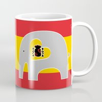 spanish Mugs featuring Spanish Elephant by Elephant Love