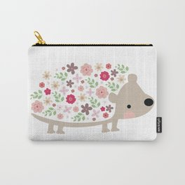 Flower Hedgehog Carry-All Pouch