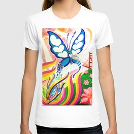 """""""SF Butterfly"""" by Adam France T-shirt"""
