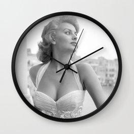 Sophia Loren Celebrity Silk Poster Frameless, Art Wall Clock
