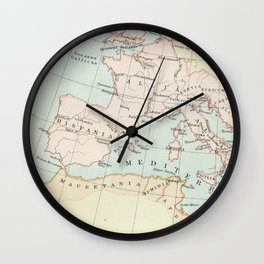 Vintage Map Of The Roman Empire Wall Clock