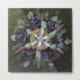 Nature Mandala: January Metal Print