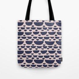Half moon horizontal geometric print - Navy Tote Bag