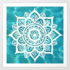 Water Mandala Art Print