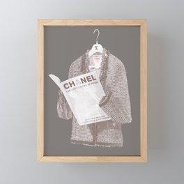 Vintage Jacket Reading, taupe Framed Mini Art Print