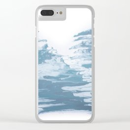 Marble Drips Clear iPhone Case