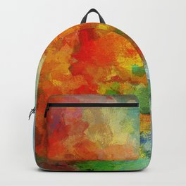 Abstract and Minimalist Landscape Painting Backpack
