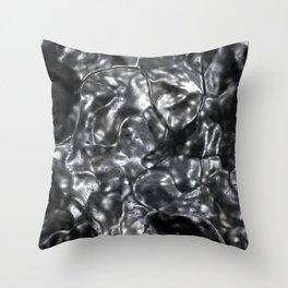 Molten Silver Throw Pillow