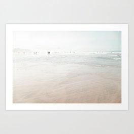 At the Beach (six) Art Print