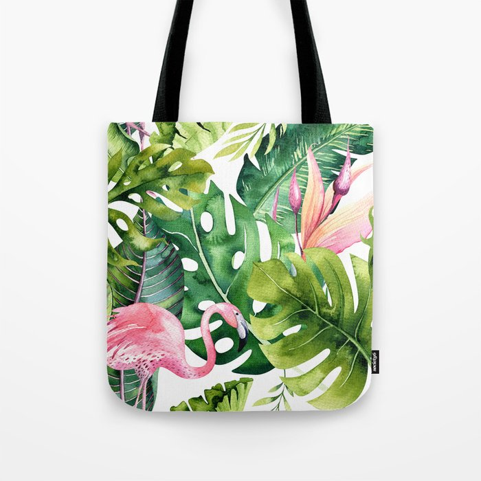 Tropical & flamingo collection Tote Bag