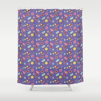 doughnut Shower Curtains featuring Doughnut Pattern by Diana Willett