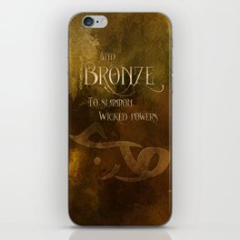 And BRONZE to summon wicked powers. Shadowhunter Children's Rhyme. iPhone Skin