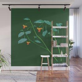 Jewel weed - illustration Wall Mural