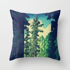 Under the cover of Yanakaden Throw Pillow