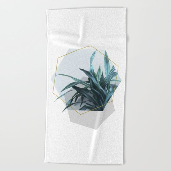 Geometric Jungle Beach Towel