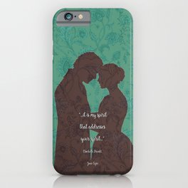 Jane Eyre quote - Love Quotes - Charlotte Bronte - Book lover gift. iPhone Case