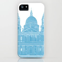St Paul's Cathedral - London architectural print iPhone Case