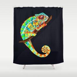 Color Changing Chameleon Shower Curtain