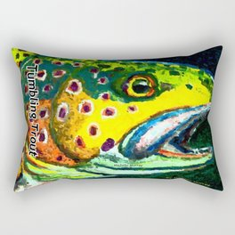 Tumbling Trout Logo - Trout Head Rectangular Pillow