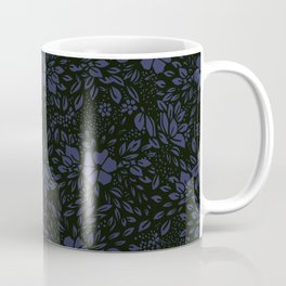 Abstract - kind of damasc french style wrapping paper - Deep Blue and blak Coffee Mug