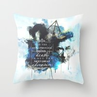 dumbledore Throw Pillows featuring Dumbledore by Rose's Creation