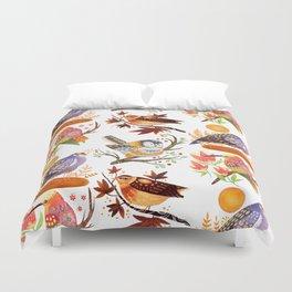 Seasonal Birds Duvet Cover