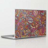 valentines Laptop & iPad Skins featuring Valentines Paisley by Lidija Paradinović Nagulov - Celandine