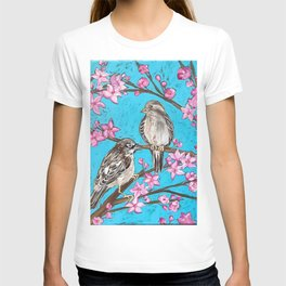 Spring Sparrows and Cherry Blossoms T-shirt