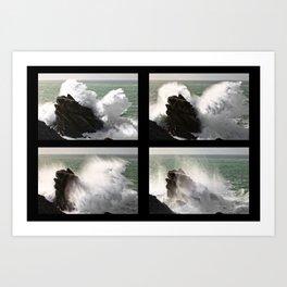 Big wave exploding in Yeu Island Art Print