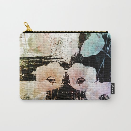 poppies on abstract background Carry-All Pouch