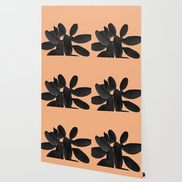 Black Pastel Orange Cacti Vibes #1 #plant #decor #art #society6 Wallpaper