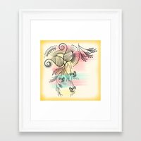 decorative Framed Art Prints featuring Decorative Floral by famenxt