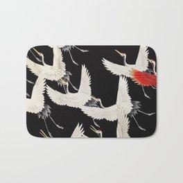 Flying Japanese Cranes Bath Mat