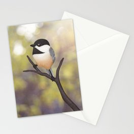 Ellery the black-capped chickadee Stationery Cards