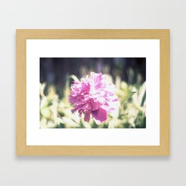 Pink planet Framed Art Print