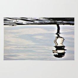 Lamp reflection upsidedown Rug