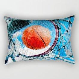 Basketball art print 166 Rectangular Pillow