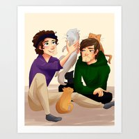 larry Art Prints featuring Larry by Tori