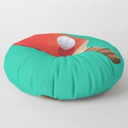 Ping Pong Paddle polygon art Floor Pillow