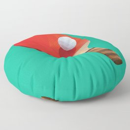 Ping Pong Paddle polygon art Floor Pillow
